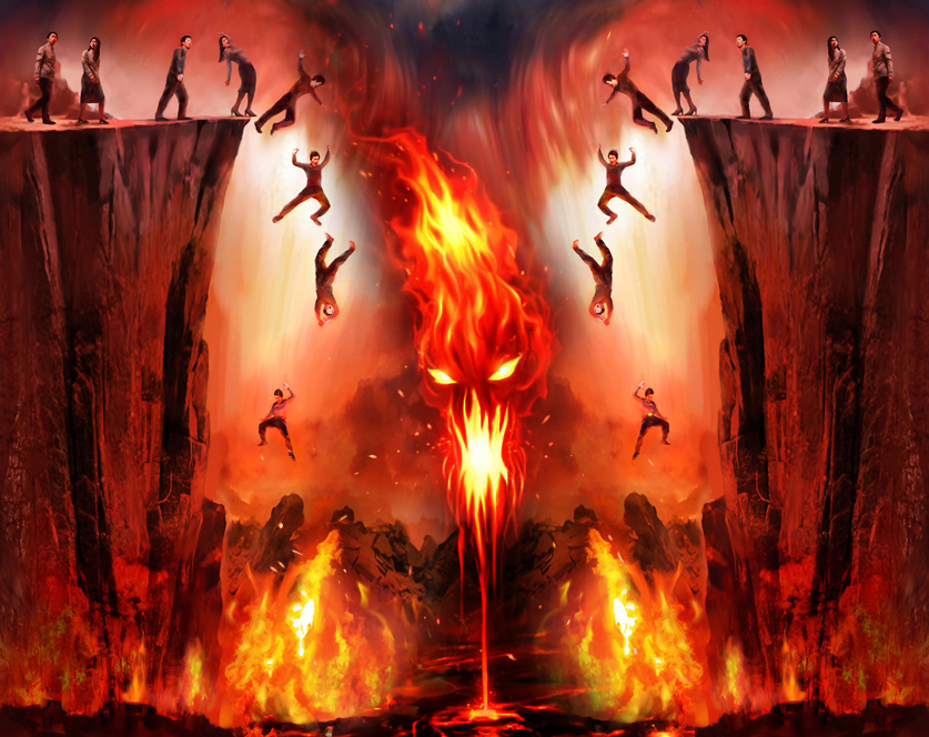 Souls Falling Into Hell